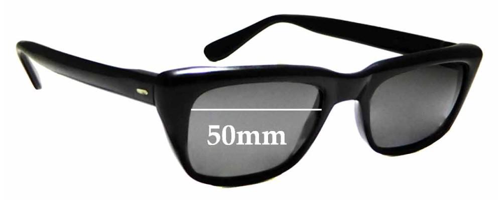 Sunglass Fix Sunglass Replacement Lenses for Zyloware Nylon - 50mm Wide