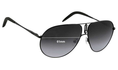 Sunglass Fix Sunglass Replacement Lenses for Carrera By Safilo Master 2 - 61mm Wide