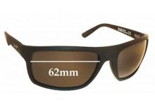 Sunglass Fix Sunglass Replacement Lenses for Maui Jim MJ746 Byron Bay - 62mm Wide