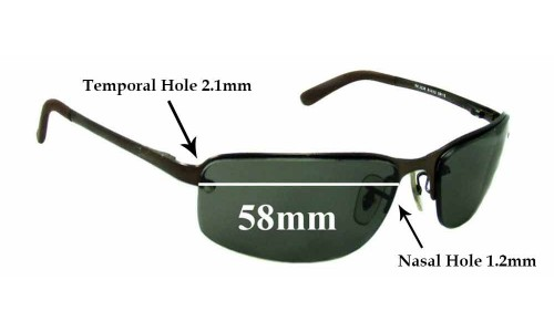 Sunglass Fix Sunglass Replacement Lenses for Ray Ban RB3239 - 58mm wide **These lenses have a smaller 1.2mm hole on the nose**