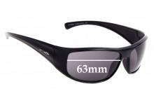 Sunglass Fix Sunglass Replacement Lenses for Arnette Glimpse AN4126 - 63mm Wide
