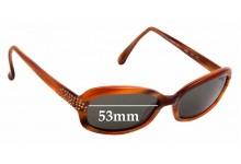 Sunglass Fix Sunglass Replacement Lenses for Beausoleil Paris 340 - 53mm Wide