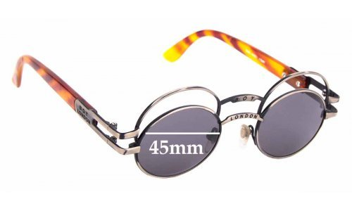 Sunglass Fix Sunglass Replacement Lenses for Boy London 90's Vintage - 45mm Wide