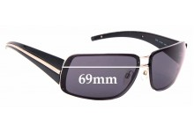 Sunglass Fix Sunglass Replacement Lenses for Chanel 4138 - 69mm Wide