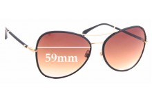Sunglass Fix Sunglass Replacement Lenses for Chanel 4227-Q - 59mm Wide