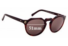 Sunglass Fix Sunglass Replacement Lenses for Colab Corbu - 51mm Wide
