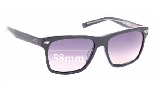 Sunglass Fix Sunglass Replacement Lenses for Costa Del Mar Aransas - 58mm Wide