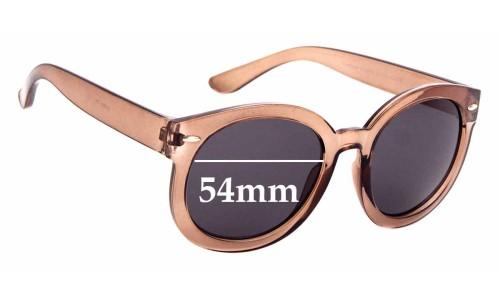 Sunglass Fix Sunglass Replacement Lenses for Cotton On Farrah Round - 54mm Wide