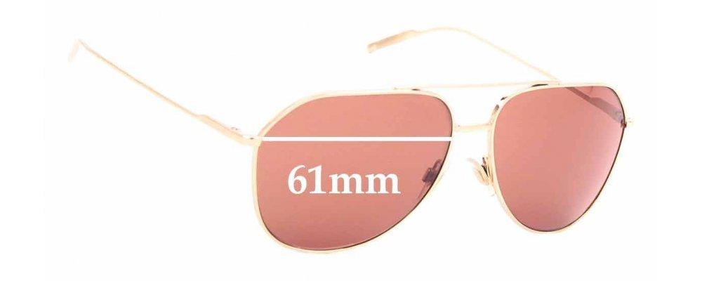 Sunglass Fix Sunglass Replacement Lenses for Dolce & Gabbana DG2166 - 61mm Wide