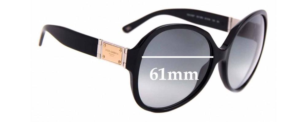 Sunglass Fix Sunglass Replacement Lenses for Dolce & Gabbana DG4087 - 61mm Wide