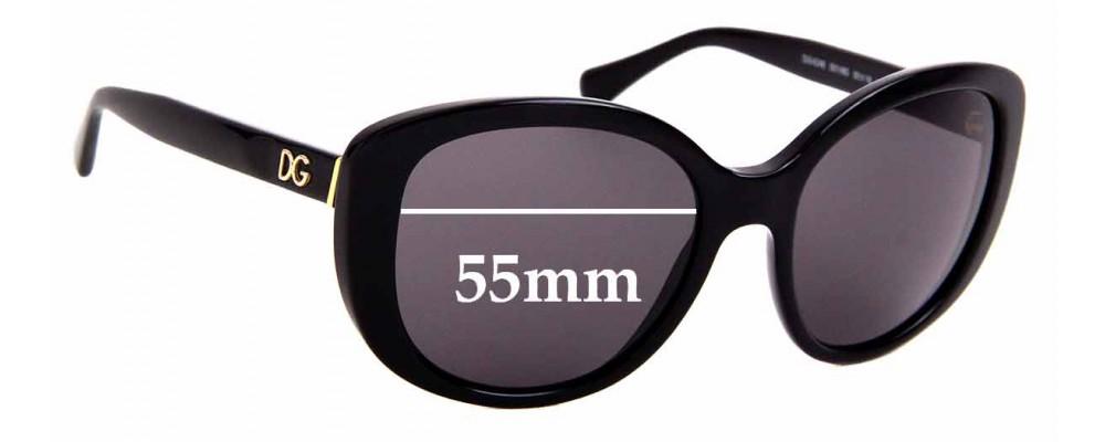 Sunglass Fix Sunglass Replacement Lenses for Dolce & Gabbana DG4248 - 55mm Wide