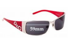 Sunglass Fix Sunglass Replacement Lenses for Dolce & Gabbana DG6010 - 59mm Wide **MUST BE SENT TO OUR FACILITIES FOR CUSTOM FITTING**