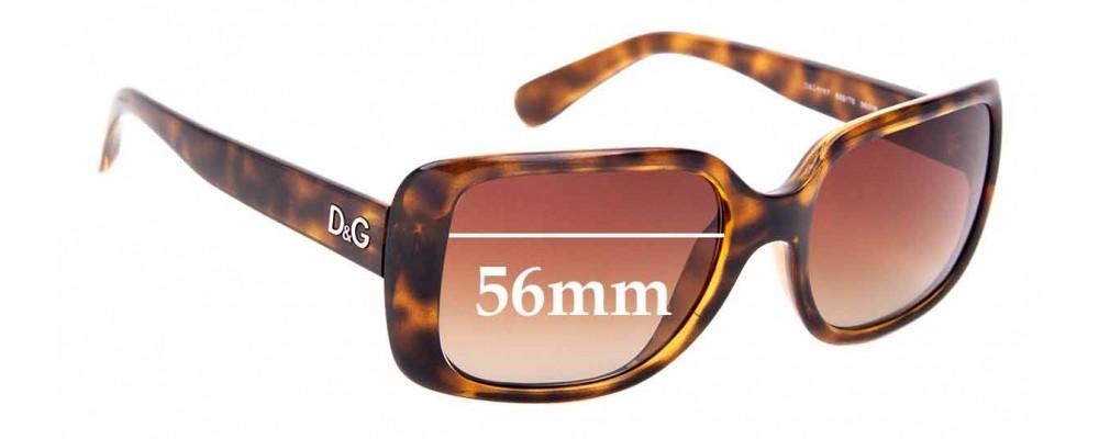 Sunglass Fix Sunglass Replacement Lenses for Dolce & Gabbana DG8067 - 56mm Wide