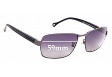 Sunglass Fix Sunglass Replacement Lenses for Ermenegildo Zegna SZ 3287 - 59mm Wide