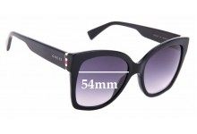 Sunglass Fix Sunglass Replacement Lenses for Gucci GG0459/S - 54mm Wide