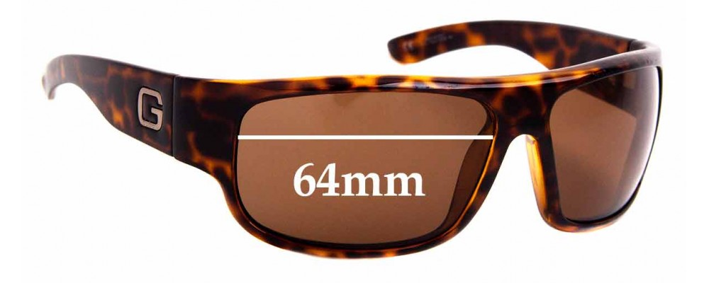Sunglass Fix Sunglass Replacement Lenses for Gucci GG 1500/S - 64mm Wide