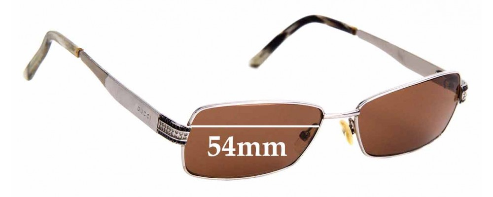 Sunglass Fix Sunglass Replacement Lenses for Gucci GG 2750 - 54mm Wide