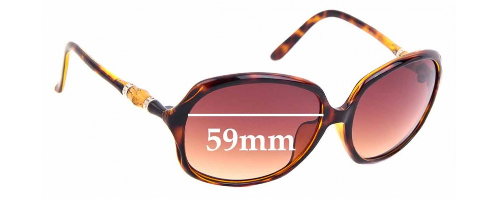 Sunglass Fix Sunglass Replacement Lenses for Gucci GG 3145/F/S - 59mm Wide