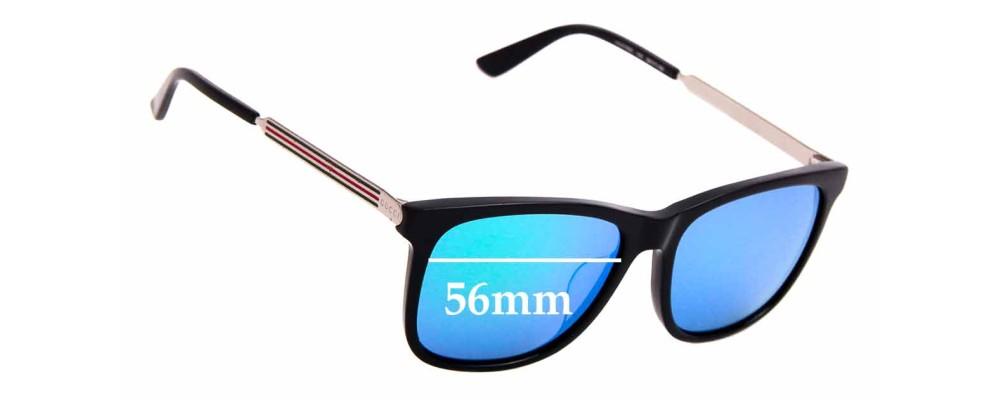 Sunglass Fix Sunglass Replacement Lenses for Gucci GG 0078SK - 56mm Wide