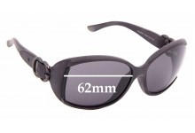 Sunglass Fix Sunglass Replacement Lenses for Gucci GG 3521/F/S - 62mm Wide