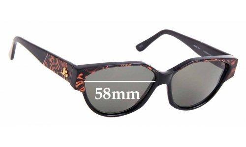 Sunglass Fix Sunglass Replacement Lenses for Jean-Louis Scherrer California 704 - 58mm Wide