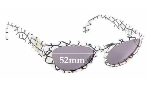 Sunglass Fix Sunglass Replacement Lenses for Karl Lagerfeld 3601 - 52mm Wide