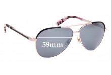 Sunglass Fix Sunglass Replacement Lenses for Kate Spade Amarissa/S - 59mm Wide
