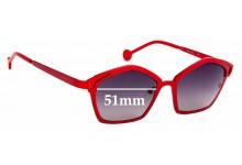 Sunglass Fix Sunglass Replacement Lenses for L.A.Eyeworks Fado - 51mm Wide