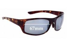 Sunglass Fix Sunglass Replacement Lenses for Maui Jim MJ440 Big Wave - 67mm Wide