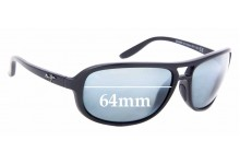 Sunglass Fix Sunglass Replacement Lenses for Maui Jim MJ288 Breakers - 64mm Wide