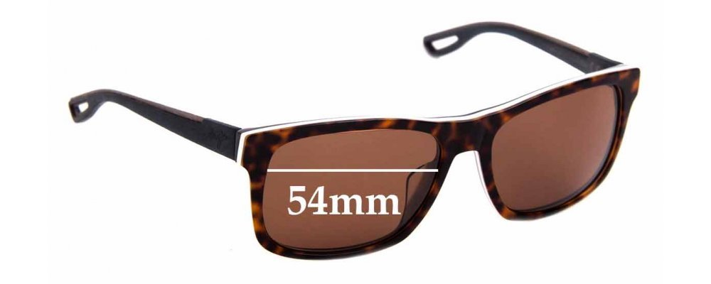 Sunglass Fix Sunglass Replacement Lenses for Maui Jim MJ765 Chee Hoo! - 54mm Wide