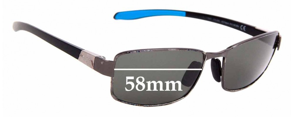 Sunglass Fix Sunglass Replacement Lenses for Maui Jim MJ707 Kona Winds - 58mm Wide