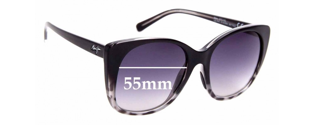 Sunglass Fix Sunglass Replacement Lenses for Maui Jim MJ794 Mele - 55mm Wide