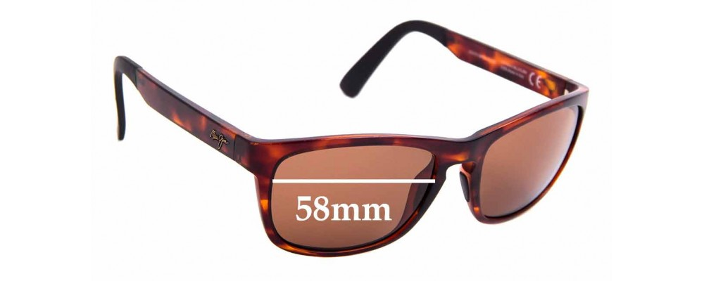 Sunglass Fix Sunglass Replacement Lenses for Maui Jim South Swell MJ755 - 58mm Wide