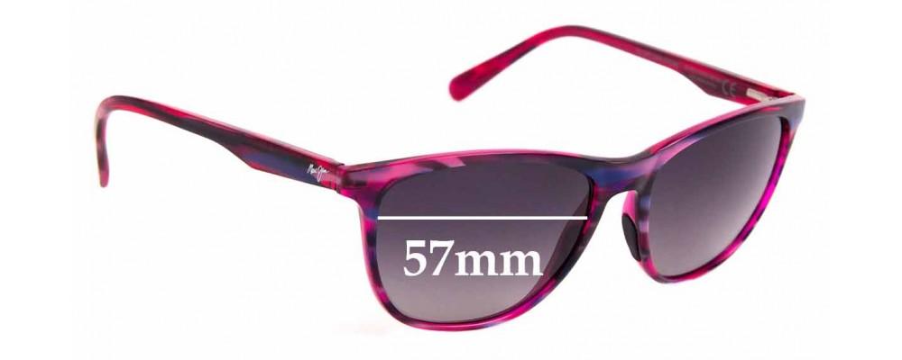 Sunglass Fix Sunglass Replacement Lenses for Maui Jim MJ783 Sugar Cane - 57mm Wide