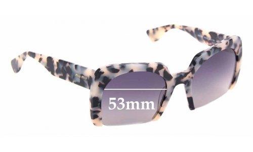 Sunglass Fix Sunglass Replacement Lenses for Miu Miu SMU06Q - 53mm Wide