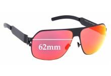 Sunglass Fix Sunglass Replacement Lenses for Mykita & Bernhard Willhelm Xaver - 62mm Wide