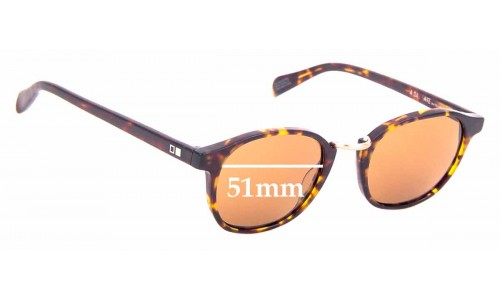 Sunglass Fix Sunglass Replacement Lenses for Otis A Day Late - 51mm Wide
