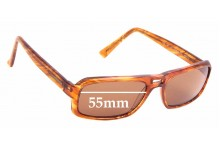 Sunglass Fix Sunglass Replacement Lenses for Pierre Cardin by Safilo PC6086/S - 55mm Wide