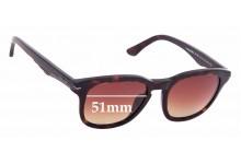 Sunglass Fix Sunglass Replacement Lenses for Police Black Bird 2 SPL-355 - 51mm Wide