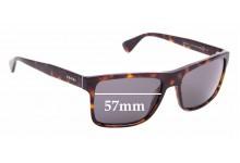Sunglass Fix Sunglass Replacement Lenses for Prada SPR01S - 57mm Wide