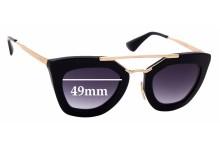 Sunglass Fix Sunglass Replacement Lenses for Prada SPR09Q - 49mm Wide
