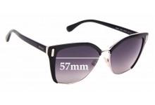 Sunglass Fix Sunglass Replacement Lenses for Prada SPR56T - 57mm Wide