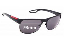 Sunglass Fix Sunglass Replacement Lenses for Prada SPS57Q - 58mm Wide