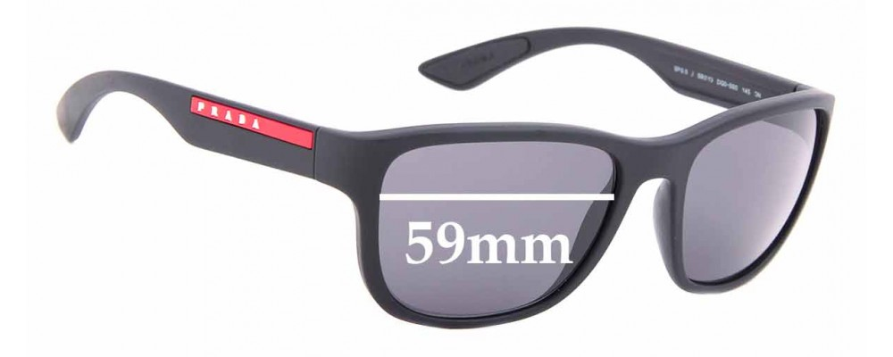 Sunglass Fix Sunglass Replacement Lenses for Prada SPS01U - 59mm Wide