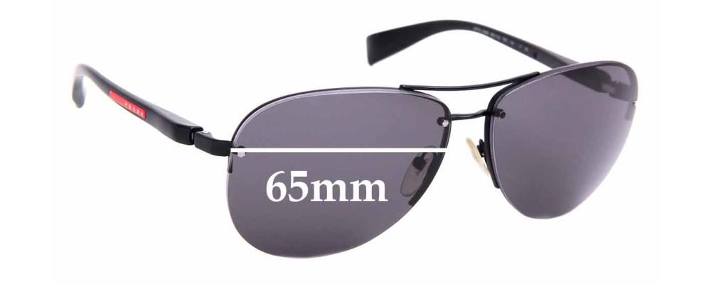 Sunglass Fix Sunglass Replacement Lenses for Prada PS56MS - 65mm Wide