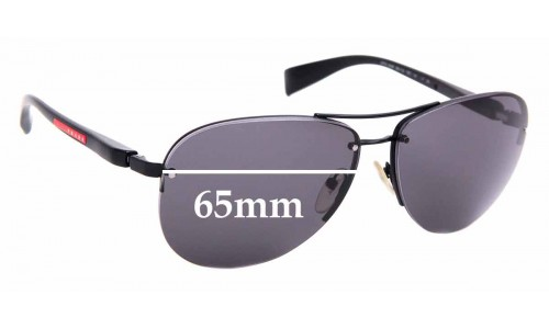 Sunglass Fix Sunglass Replacement Lenses for Prada PS56MS - 65mm Wide