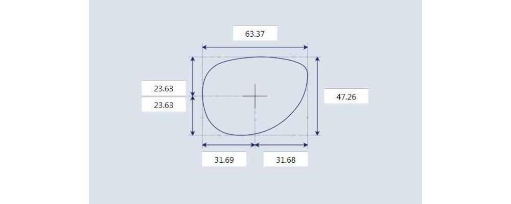 Sunglass Fix Sunglass Replacement Lenses for Prada SPR62M - 63mm Wide