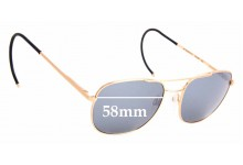 Sunglass Fix Sunglass Replacement Lenses for Randolph Engineering Aviator RE FGN - 58mm Wide