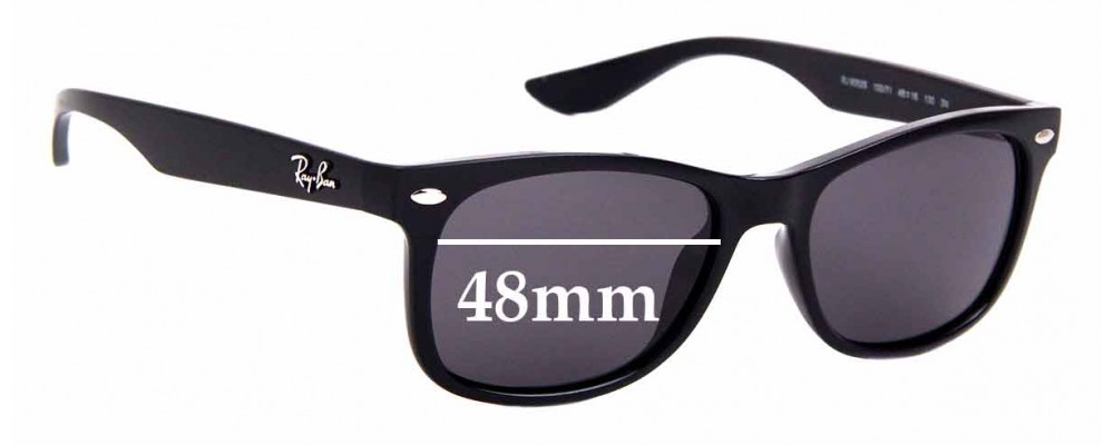 Sunglass Fix Sunglass Replacement Lenses for Ray Ban Jr RJ9052-S - 48mm Wide